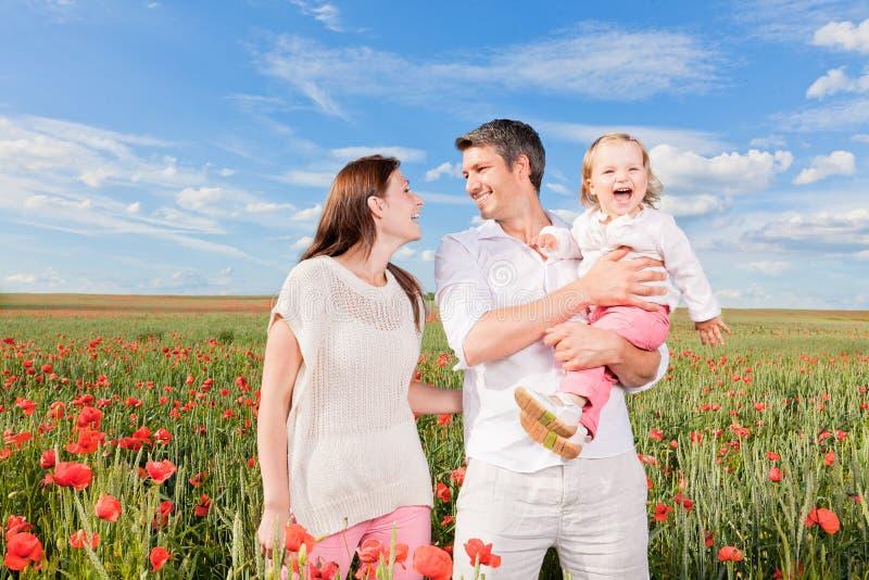 Szczęśliwa rodzina fotografia stock