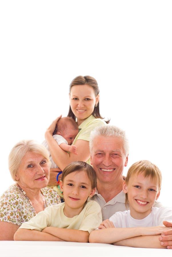 Szczęśliwa rodzina wpólnie obraz royalty free