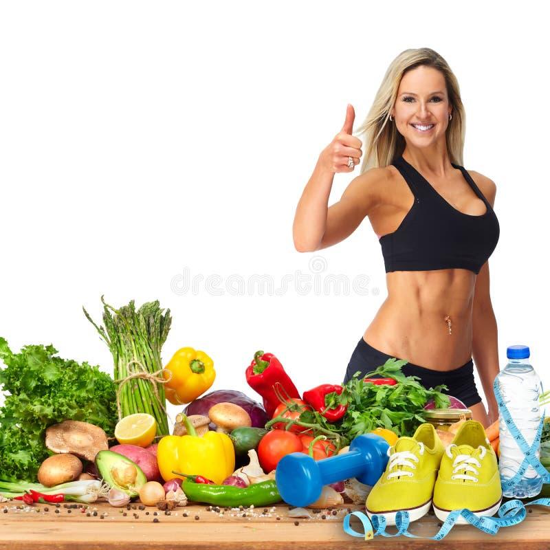szczęśliwa sprawności fizycznej kobieta zdjęcie stock