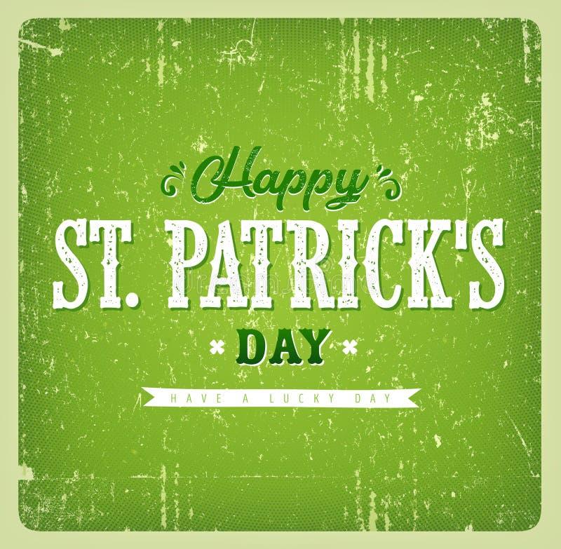Szczęśliwa St Patrick ` s dnia rocznika karta royalty ilustracja
