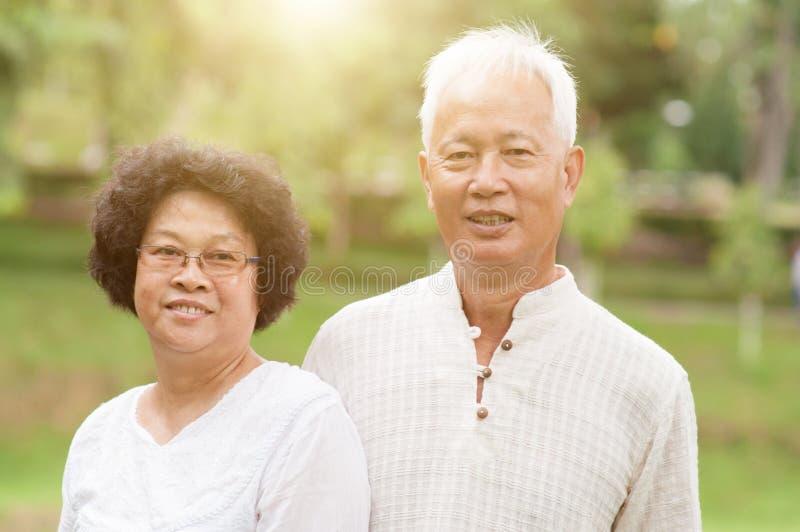 Szczęśliwa starsza Azjatycka para fotografia stock
