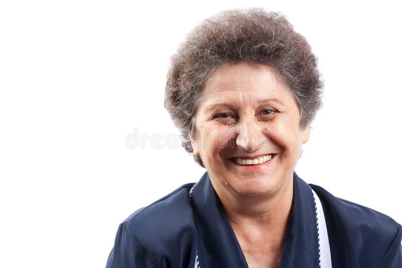 szczęśliwa starsza kobieta zdjęcie stock