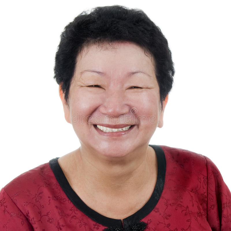 Szczęśliwa Starsza Kobieta. obraz royalty free