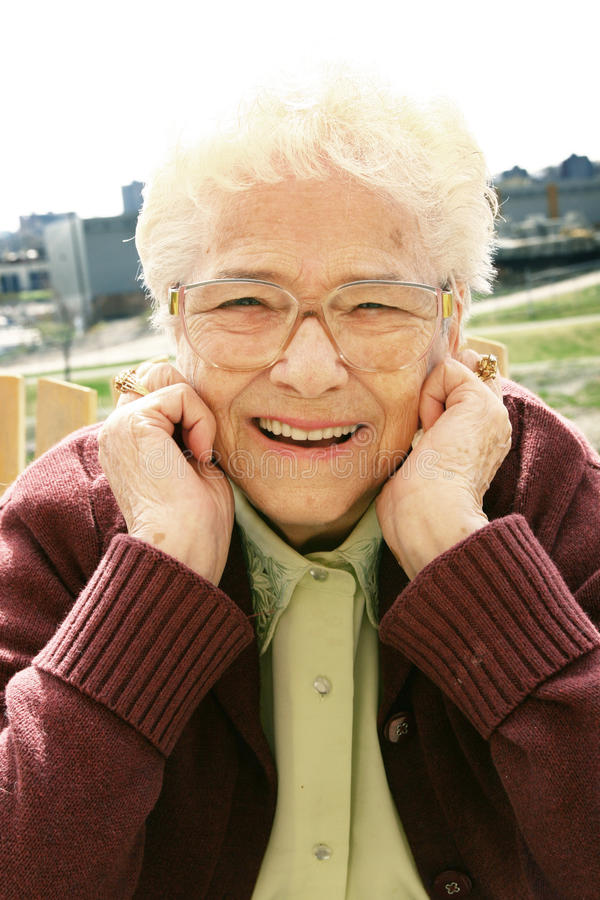 szczęśliwa starsza kobieta obraz royalty free