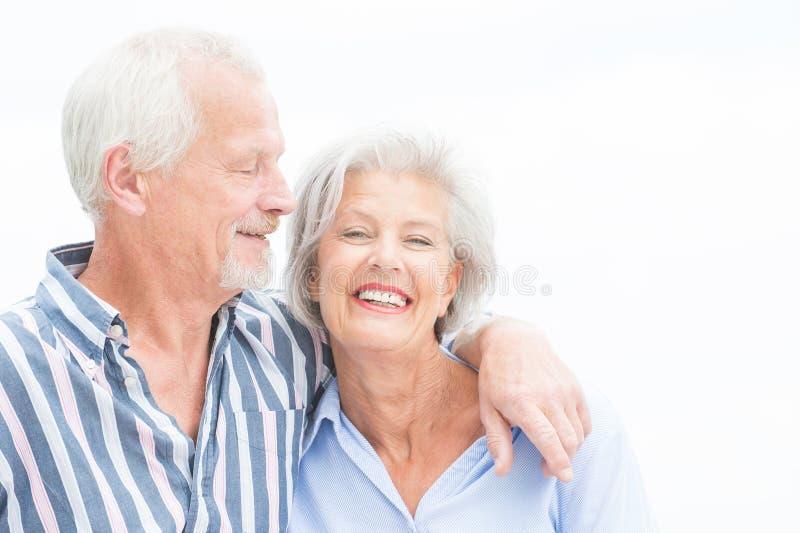 Szczęśliwa starsza para fotografia royalty free