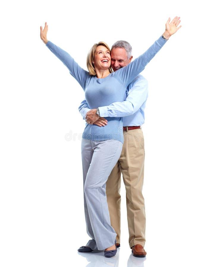 Szczęśliwa starszej osoby para. zdjęcia royalty free