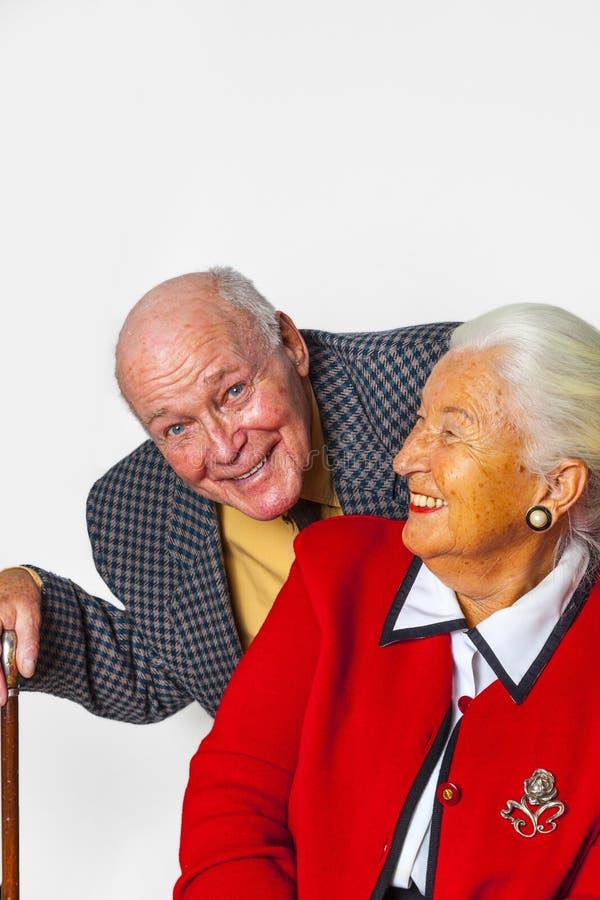 Szczęśliwa starszej osoby para cieszy się życie obrazy royalty free