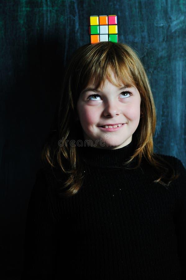 Szczęśliwa szkolna dziewczyna obraz royalty free