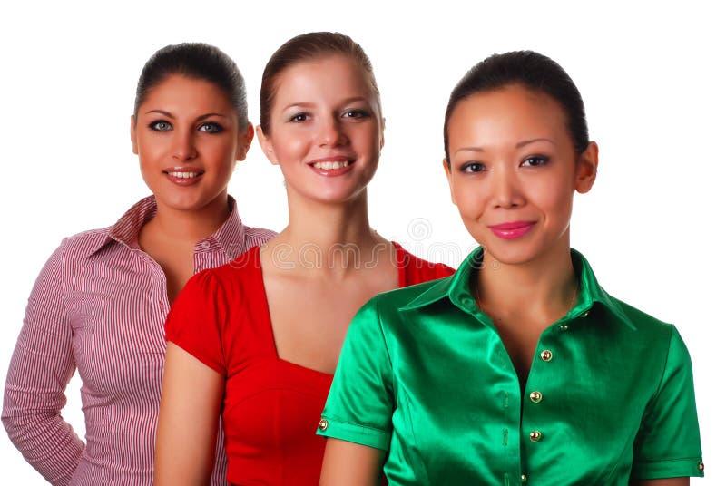 szczęśliwa trzy kobiety fotografia royalty free