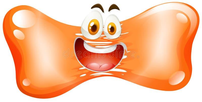 Szczęśliwa twarz na pomarańczowy freeform ilustracja wektor