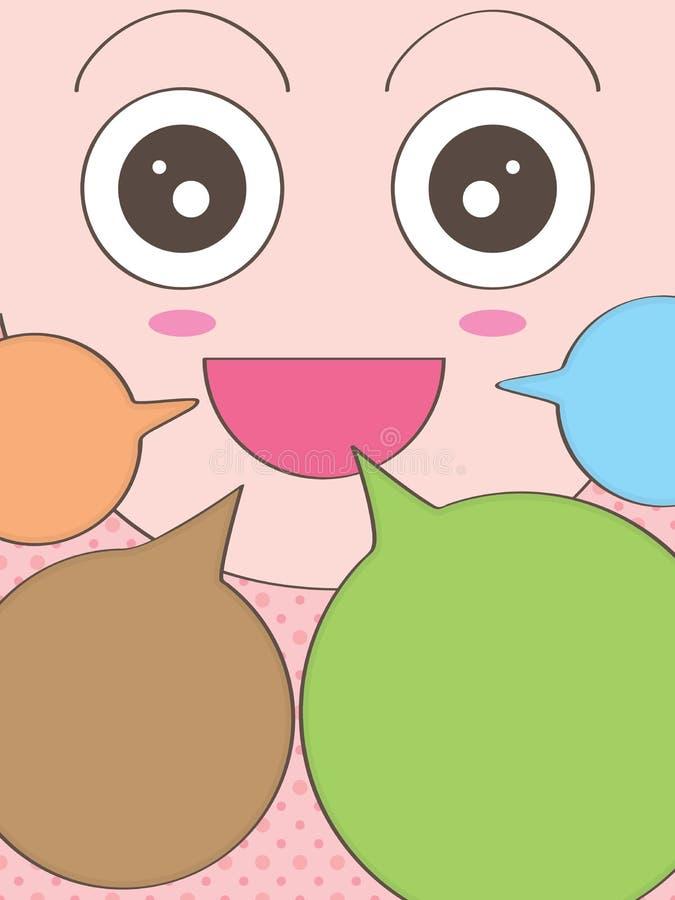 Szczęśliwa twarzy mowa ilustracja wektor