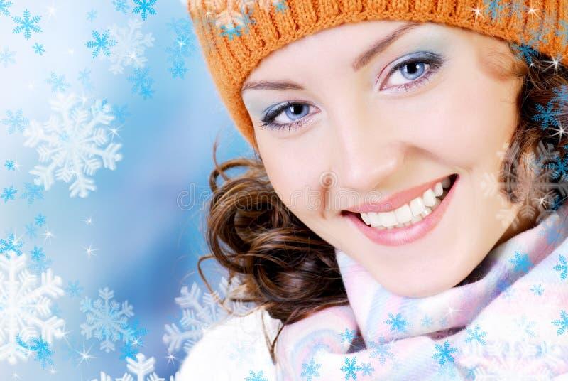 szczęśliwa twarzy zima zdjęcia stock