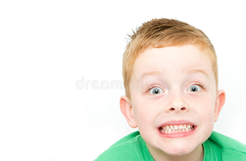 Szczęśliwa uśmiechnięta chłopiec obraz royalty free