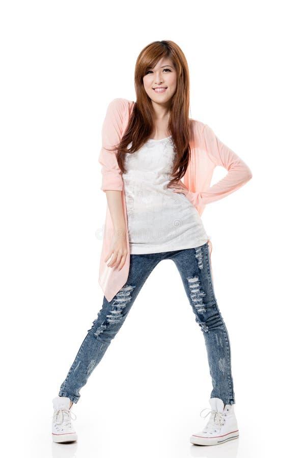 Szczęśliwa uśmiechnięta dziewczyna fotografia stock