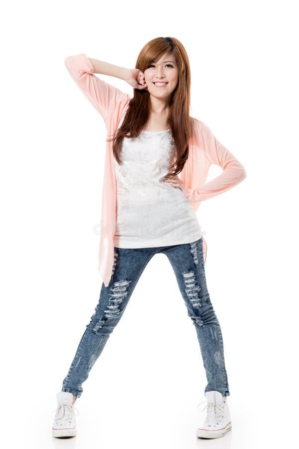 Szczęśliwa uśmiechnięta dziewczyna zdjęcie stock