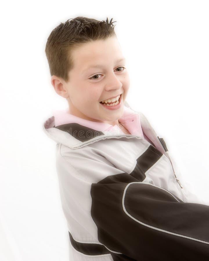 szczęśliwa uśmiechnięta młodości fotografia stock