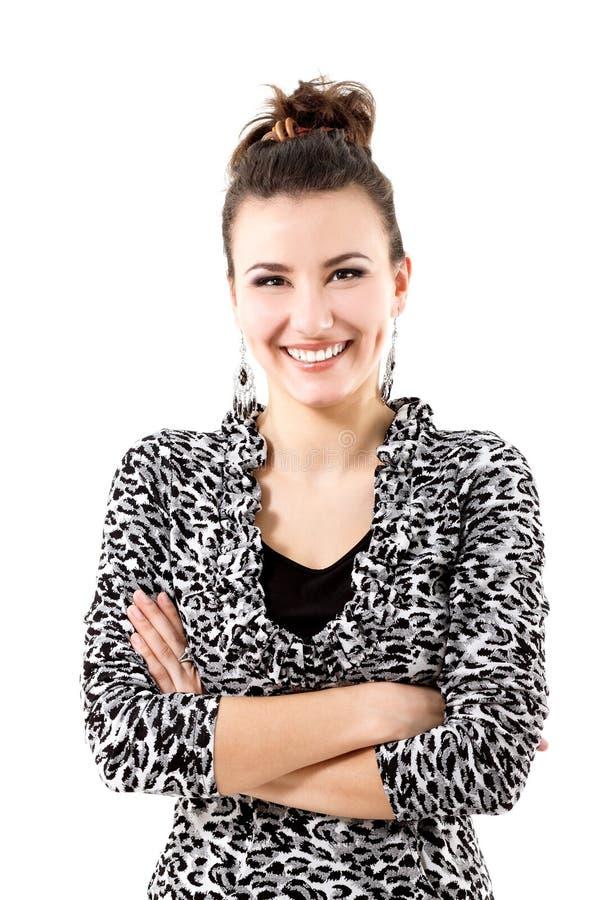 Szczęśliwa uśmiechnięta piękna młoda kobieta fotografia stock