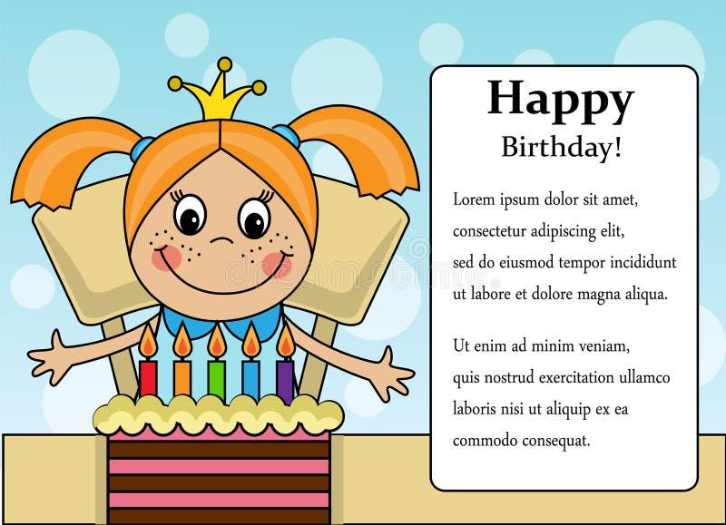 Download Szczęśliwa Urodzinowa Dziewczyna Ilustracja Wektor - Ilustracja złożonej z arte, giro: 57657577