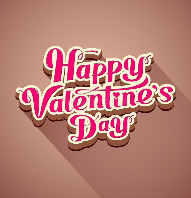 Szczęśliwa valentine dnia nowożytna wiadomość ilustracja wektor