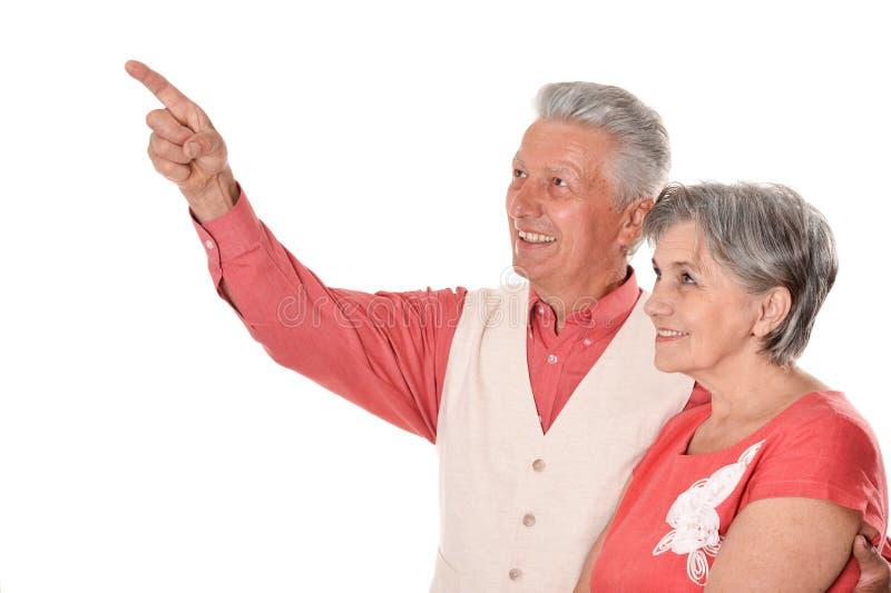 Szczęśliwa w średnim wieku para zdjęcia royalty free