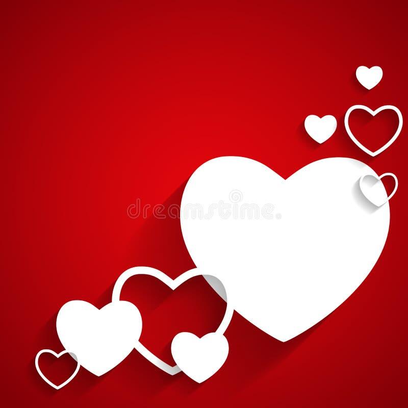 Szczęśliwa walentynka dnia karta z sercem. Płaski wektor ilustracji