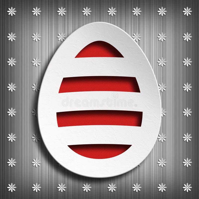 Szczęśliwa wielkanoc - kształt Easter jajko na szarym tle ilustracji