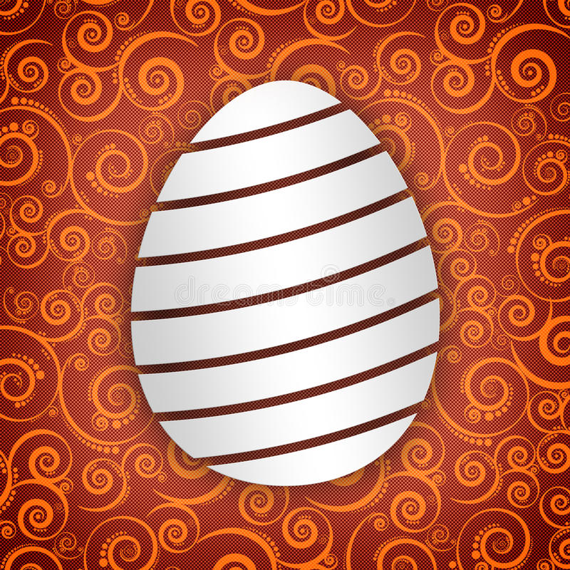 Szczęśliwa Wielkanocna karta ilustracja wektor