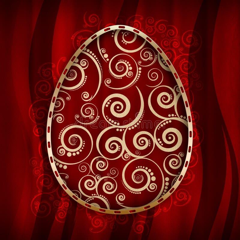 Szczęśliwa Wielkanocna karta royalty ilustracja