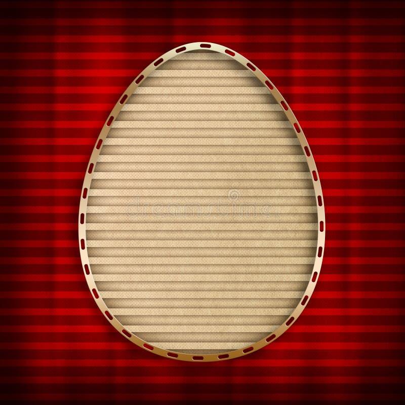 Szczęśliwa Wielkanocna karta - nowożytna, prosty projekt ilustracji
