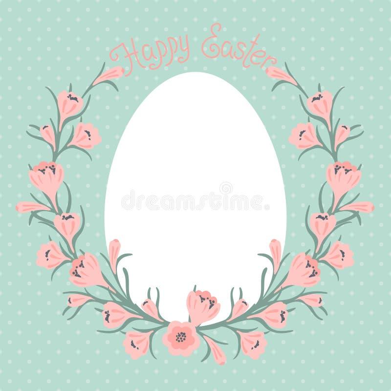 Szczęśliwa Wielkanocna karta z miejscem dla twój teksta. royalty ilustracja