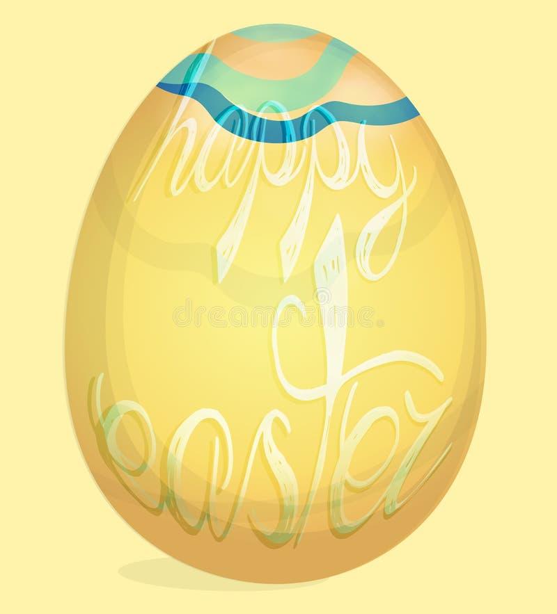 Szczęśliwa Wielkanocna wakacje karta z jajkami ilustracja wektor