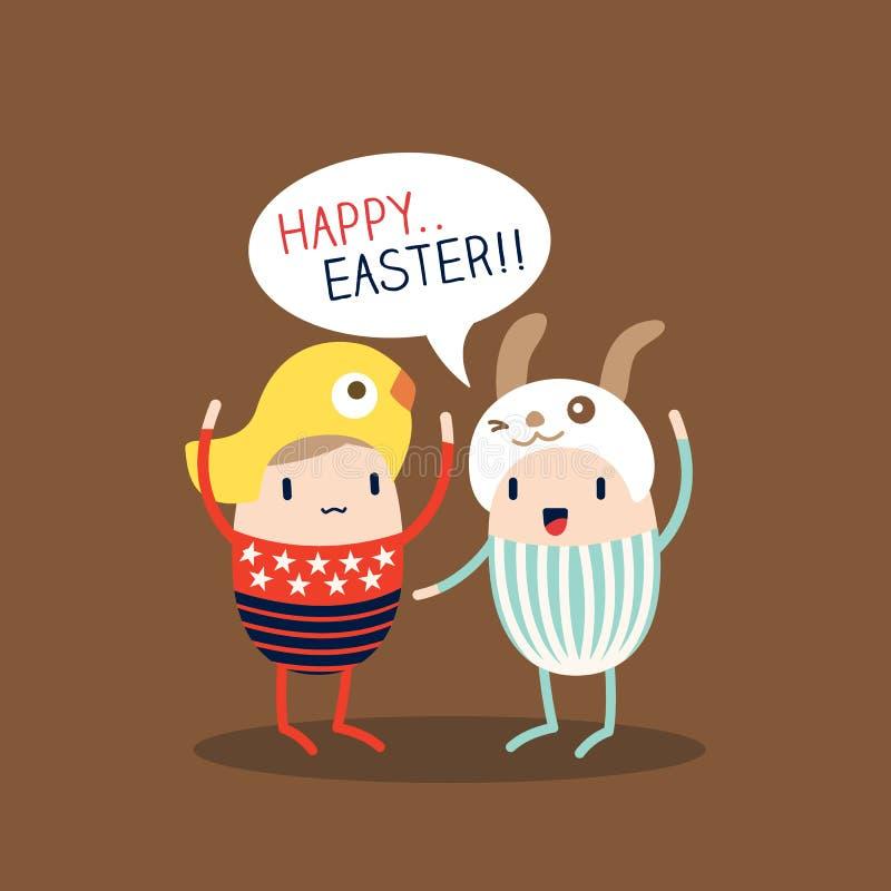 Szczęśliwa Wielkanocnego jajka kreskówka ilustracji