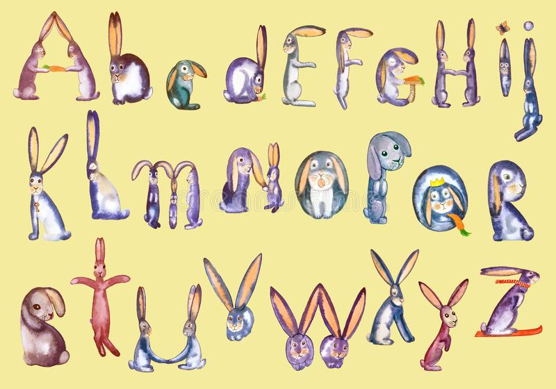 Szczęśliwa Wielkanocnego królika inskrypcja na menchiach ilustracji