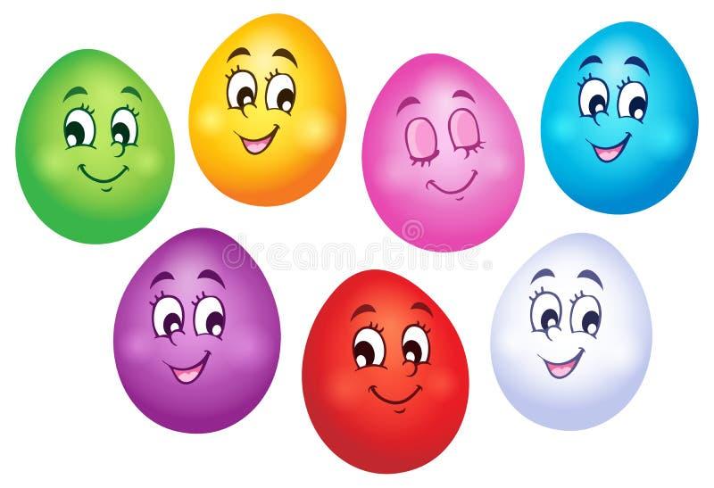 Szczęśliwa Wielkanocnych jajek kolekcja 1 royalty ilustracja