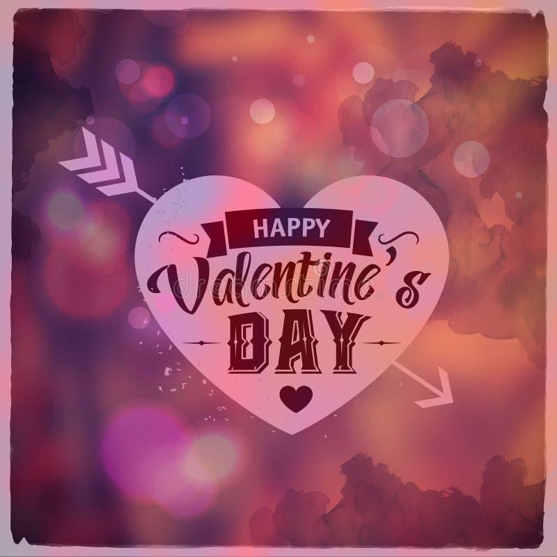 szczęśliwe dni valentines Kreatywnie graficzna wiadomość ilustracji