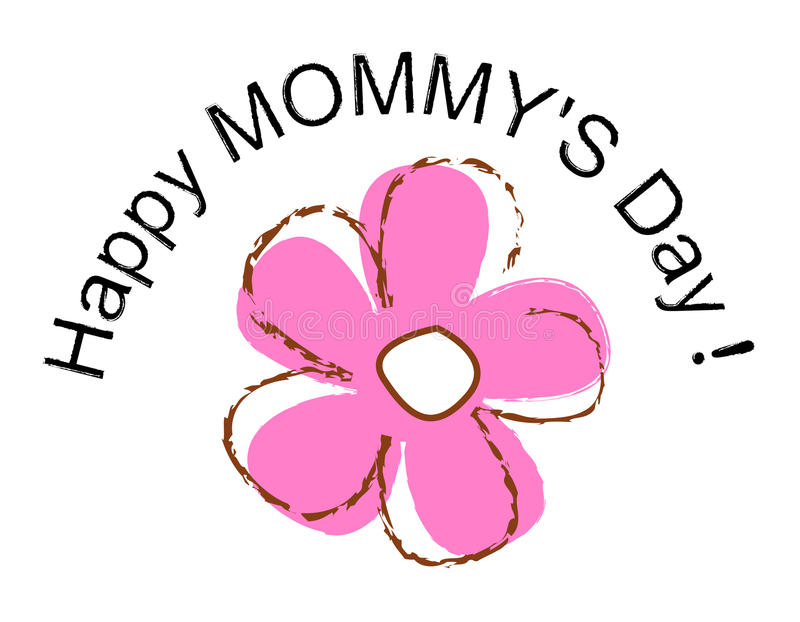 szczęśliwe dzień matki ilustracji