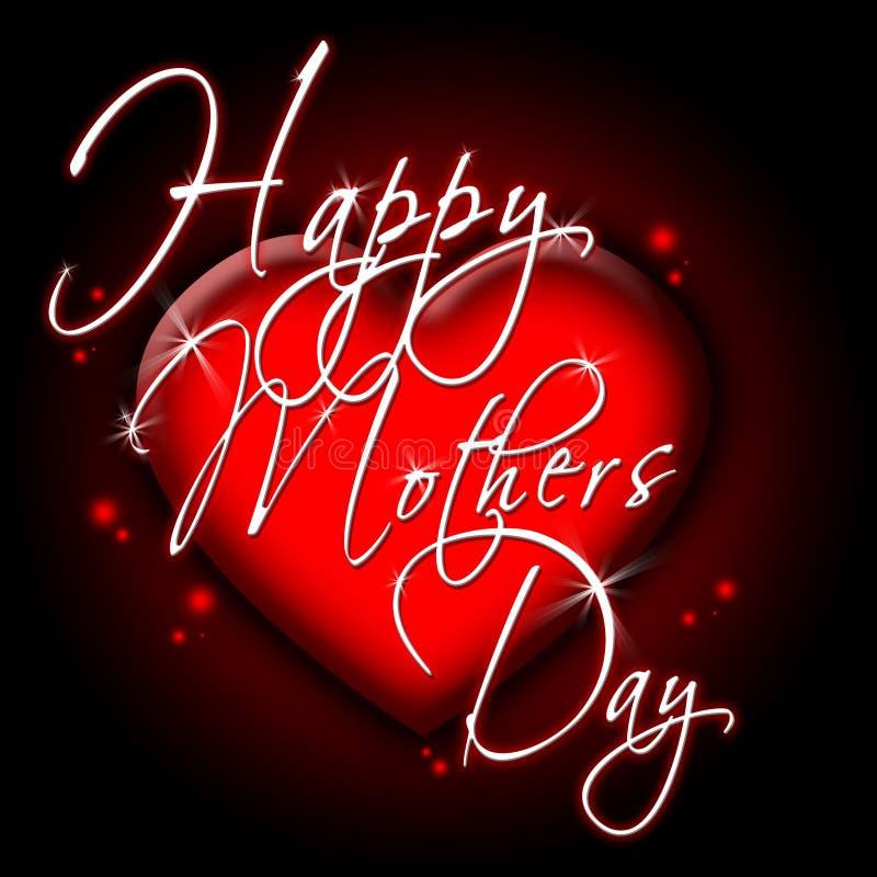 szczęśliwe dzień matki royalty ilustracja