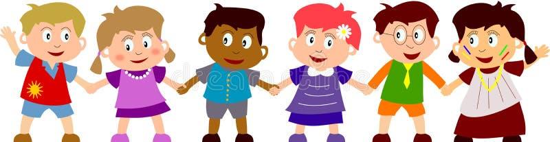 szczęśliwe dzieci royalty ilustracja