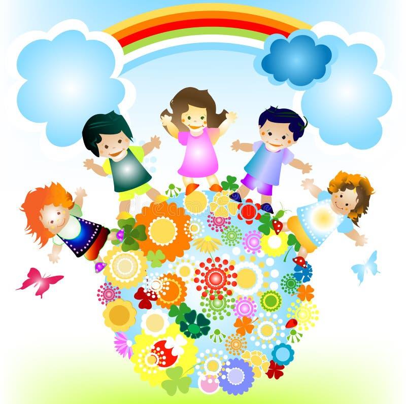 szczęśliwe dzieci ilustracja wektor