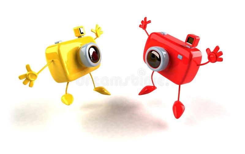 szczęśliwe kamery ilustracja wektor