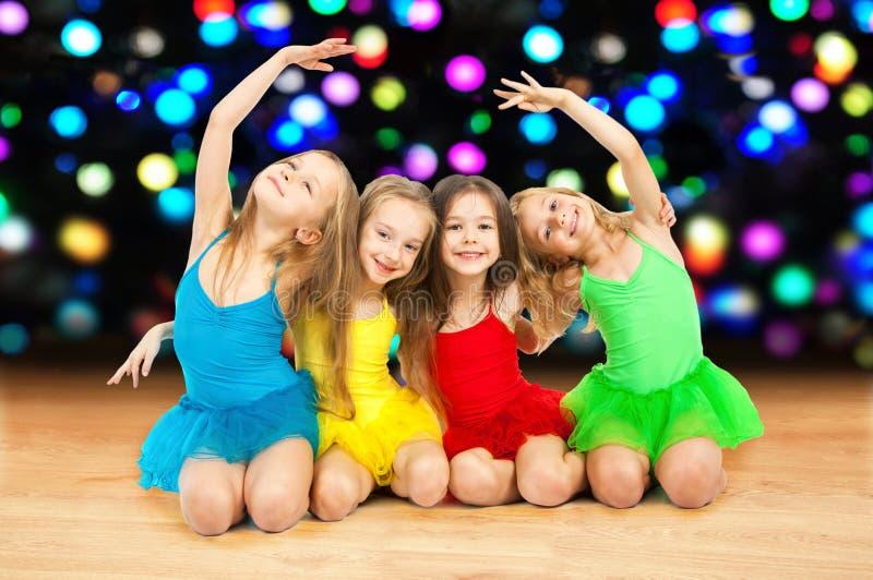 Szczęśliwe małe baleriny zdjęcie royalty free
