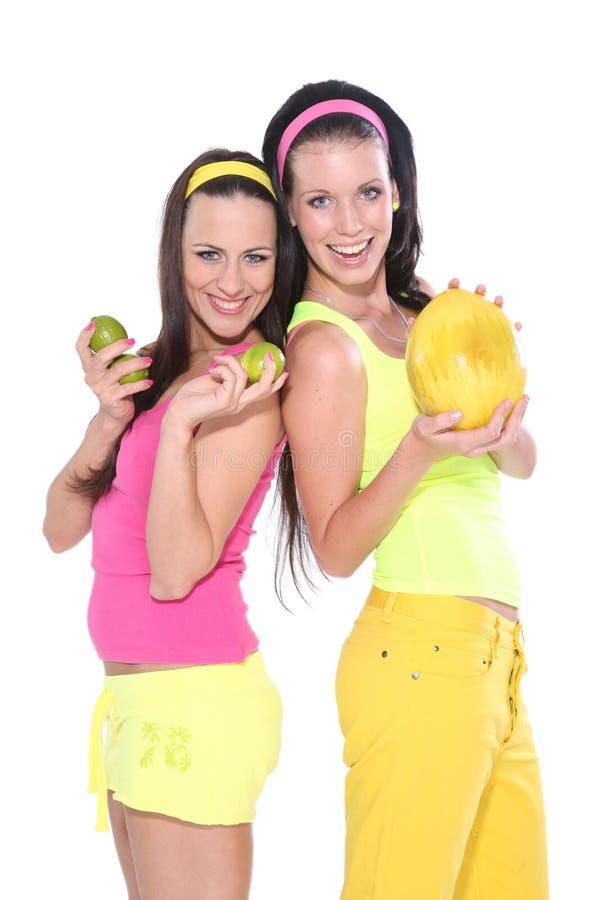 szczęśliwe owoc kobiety zdjęcia stock