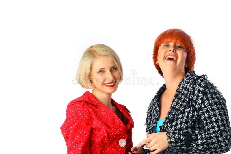 szczęśliwe portret dwie kobiety. obraz royalty free