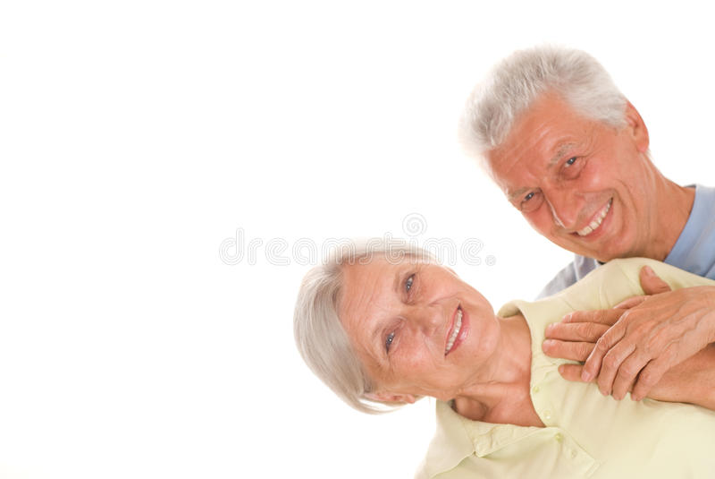 Szczęśliwe starsze osoby dobierają się wpólnie zdjęcie royalty free