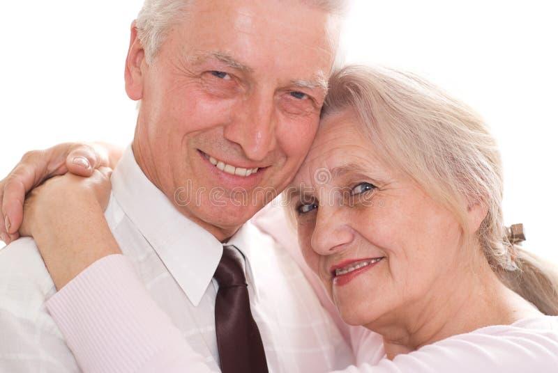 Szczęśliwe starsze osoby dobierają się wpólnie zdjęcie stock