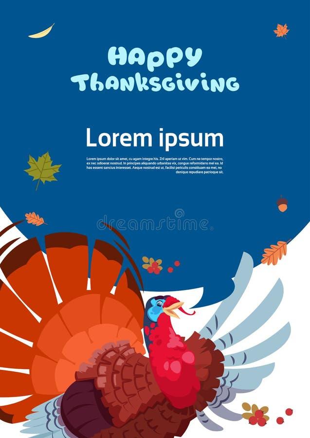 Szczęśliwego dziękczynienie dnia jesieni Tradycyjnego żniwa Wakacyjny kartka z pozdrowieniami Z Turcja ilustracja wektor