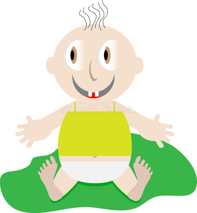 Download Szczęśliwego dziecka ilustracja wektor. Ilustracja złożonej z mały - 57667523