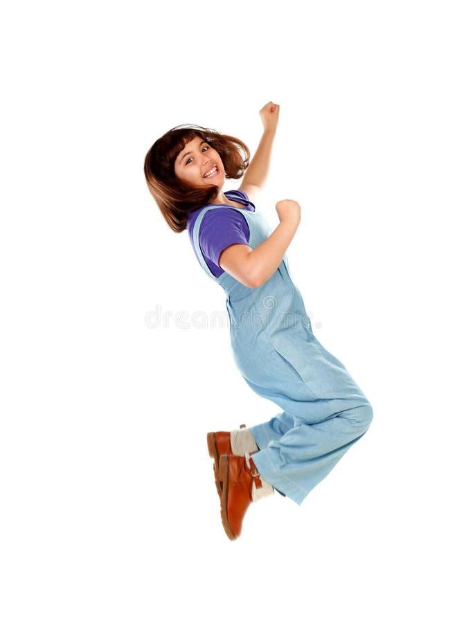 szczęśliwego dziecka jumping zdjęcie royalty free