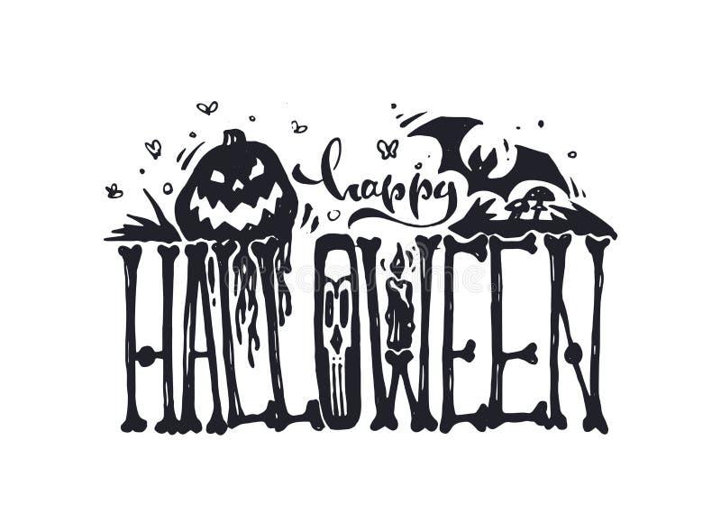 szczęśliwego halloween również zwrócić corel ilustracji wektora ilustracji