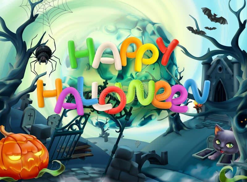 szczęśliwego halloween Wektorowy tło ilustracji